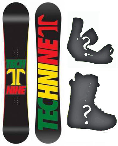 144cm Technine Split T  Rasta Hybrid Cam Rock Rocker Board or Build a Snowboard Package With Boots And Bindings