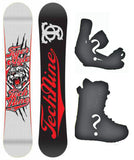 151cm, 157cm Technine Tiger Mascot White Camber Snowboard Package With Boots And Bindings