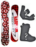 154cm Technine Harpoon Brewery white Camber Snowboard Package With Boots And Bindings
