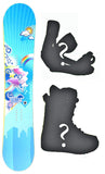 148 151cm Sapient Delta Rocker Snowboard Package With Boots And Bindings