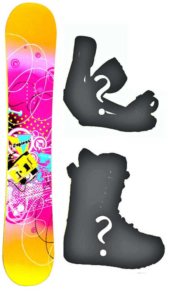 150cm, 153cm Sapient Vixen Rocker Snowboard Package With Boots And Bindings