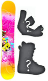 153cm Sapient Vixen W-Rocker or Camber Snowboard Package With Boots And Bindings