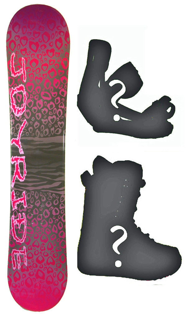 151cm Joyride Cheetah Pink  Snowboard Package With Boots And Bindings