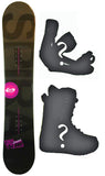 147-151cm TwoBOne Spiral Black Camber Snowboard Package With Boots And Bindings