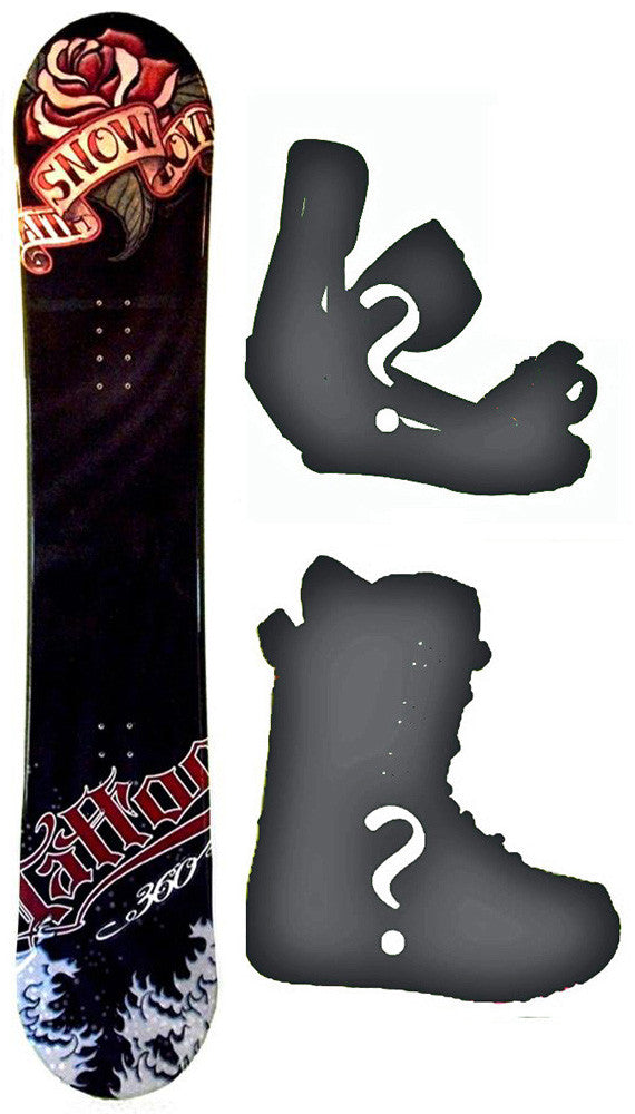145cm 360 Tattoo  Snowboard Package With Boots And Bindings