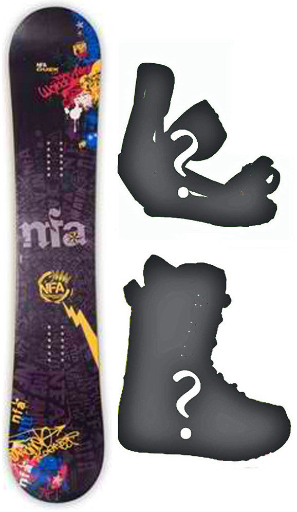 151cm, 153cm, 158cm NFA Duex Rocker Snowboard, Build a Package with Boots and Bindings