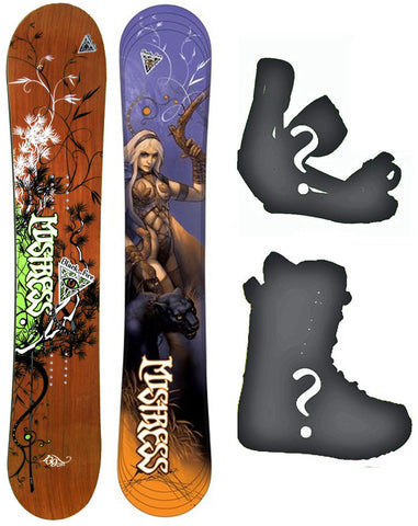 139 149cm Black Fire Mistress Snowboard, Build a Package with Boots and Bindings
