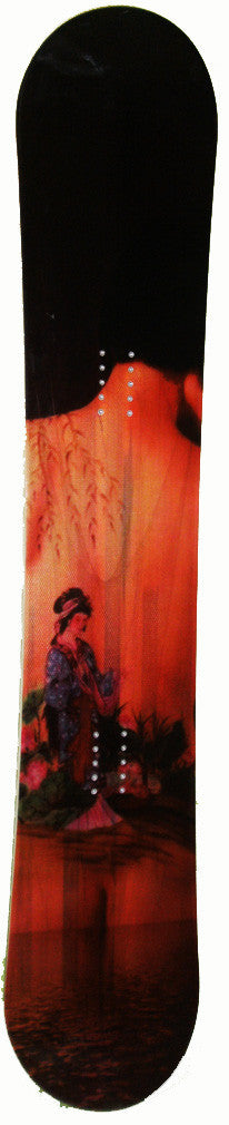 153cm  Empire Geisha Secret Garden Wood Grain  Snowboard Deck