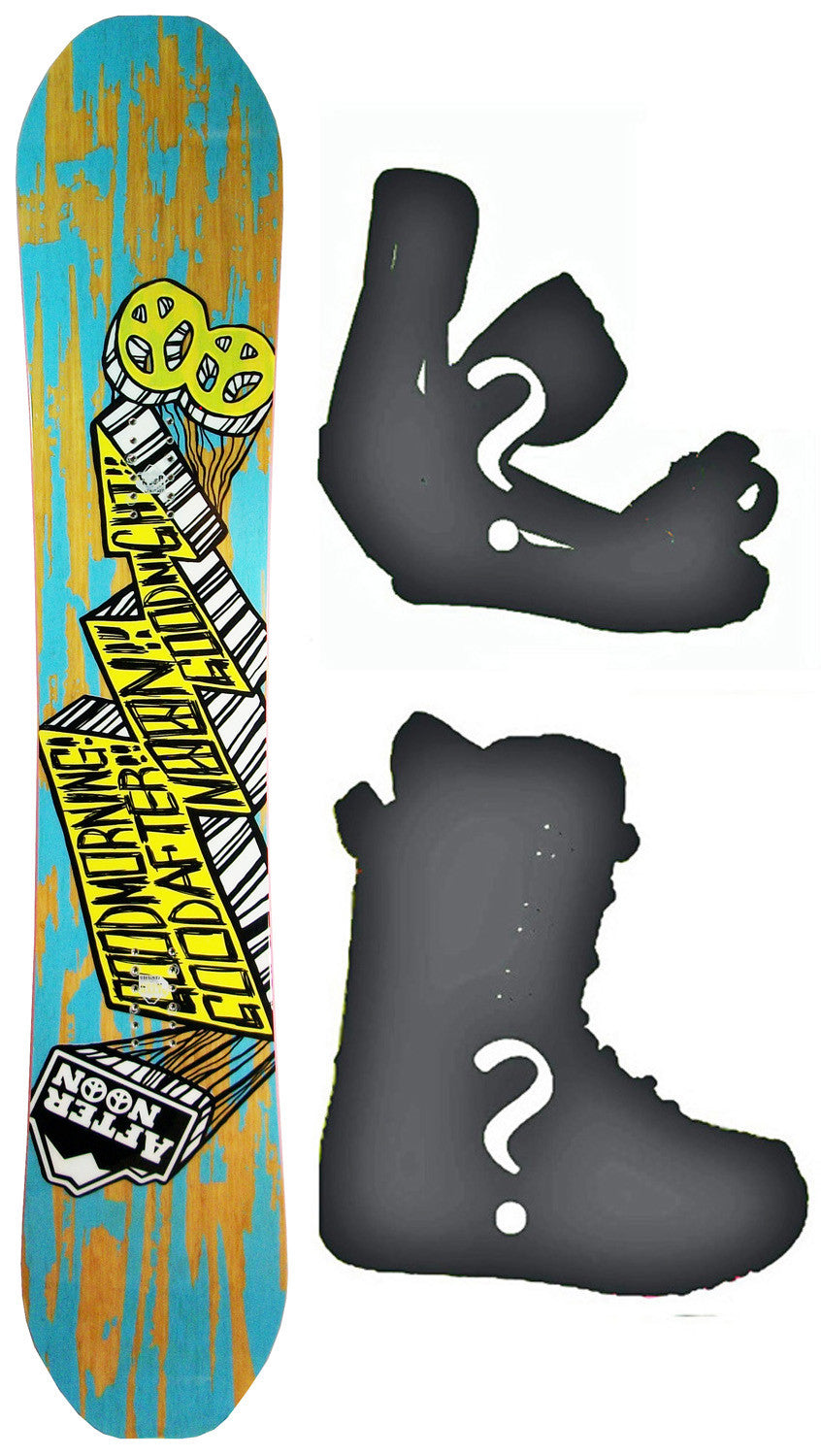 157cm Afternoon Good Morning W-Camber Snowboard, Build a Package with Boots and Bindings