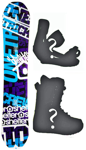 147cm Shelter Crew Rocker Snowboard, Build a Package with Boots and Bindings