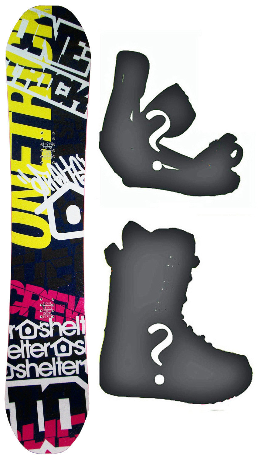 149cm Shelter Crew W-Camber Snowboard, Build a Package with Boots and Bindings