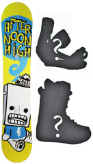 135cm Afternoon High Yellow Bolt Snowboard, Build a Package with Boots and Bindings