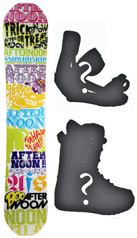 143cm AfternoonTrick or Treat Snowboard, Build a Package with Boots and Bindings