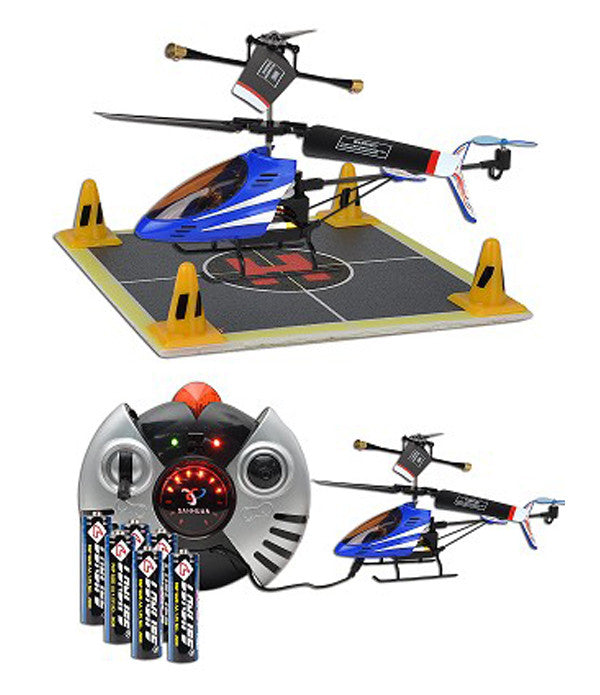 Matrix 300 Infrared Hover Remote Control Tri-Band Indoor Mini Helicopter -W/ batteries Blue