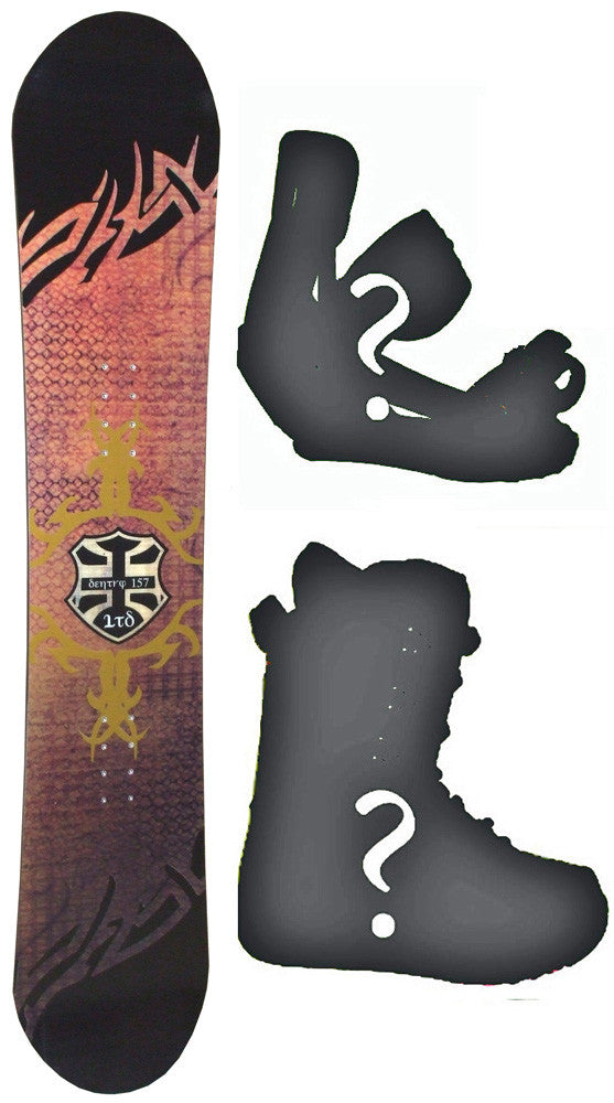 154cm Wide LTD Sentry Snowboard with Boots and Bindings