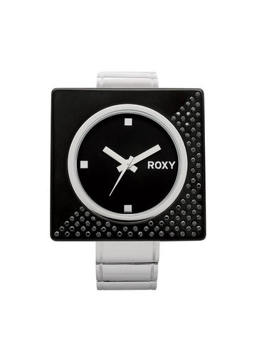 Roxy Cosmos Womens Girls Watch Silver Black