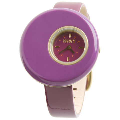 Roxy Polka Purple Womens Watch Leather Band