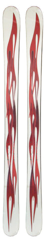 161cm Free Surf Flames White Red Twin Tip Skis