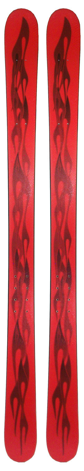 162cm Free Surf Flames Red Black Twin Tip Skis