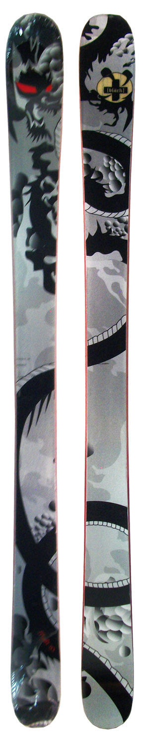 167cm Black Flight Dragon Twin Tip Skis