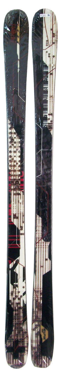 165cm Black Kink Twin Tip Skis