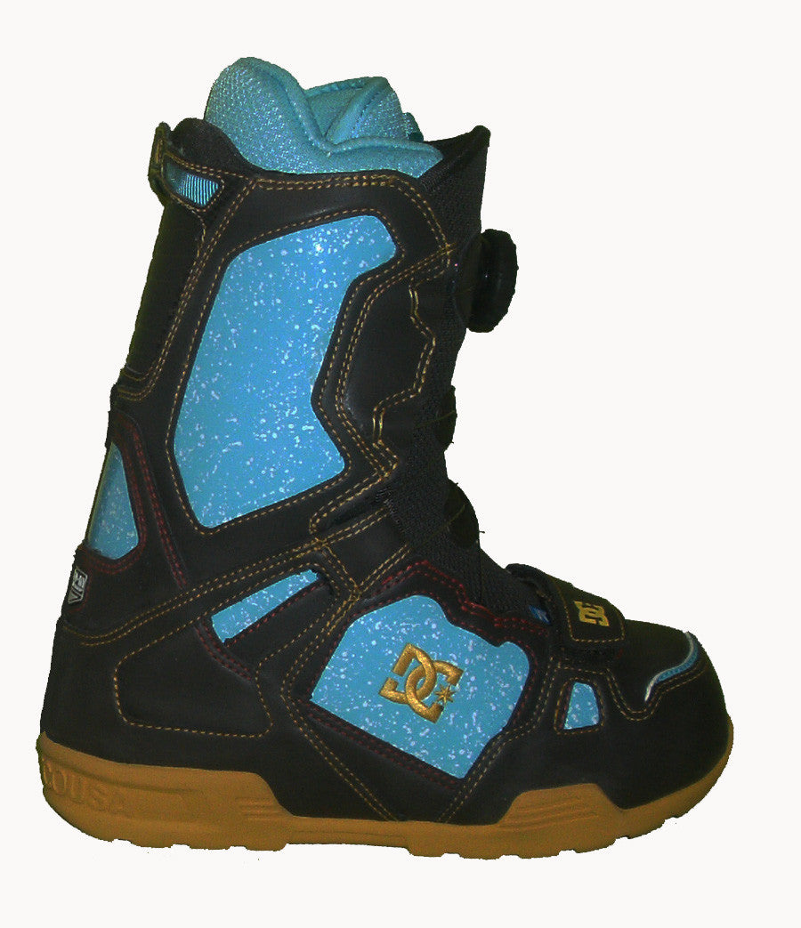 DC Super-Park Boa Snowboard Boots Mens Size 5 equals Womens 6.5 Oak-Mimosa equals Kids-5-5.5