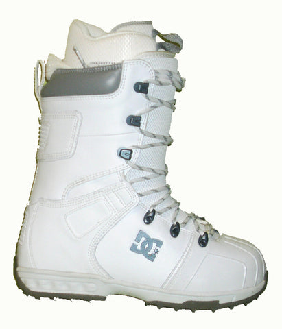 DC Field Lace Snowboard Boots Mens Size 5 equals Womens 6.5 White equals Kids-5-5.5
