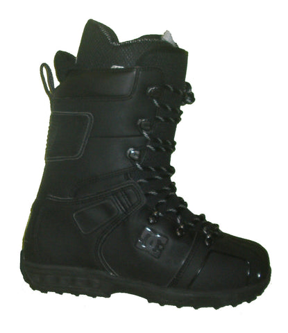 DC Field Lace Snowboard Boots Mens Size 5 equals Womens 6.5 Black equals Kids-5-5.5