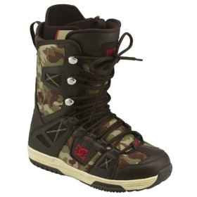 DC Phase Lace Snowboard Boots Mens Size 5 equals Womens 6.5 Dark-Chocolate-Camo equals Kids-5-5.5