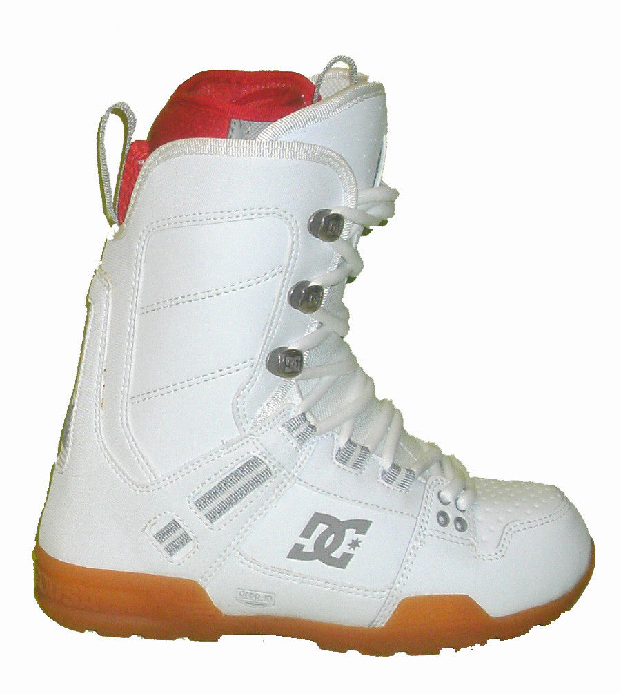 DC The-Park-Boot Lace Snowboard Boots Mens Size 6 equals Womens 7.5 White-Athletic-Red