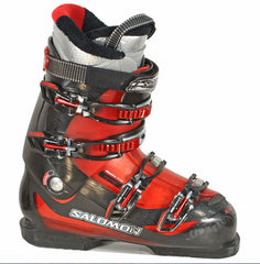 Salomon Mission 770 Ski Skiing Boots Grey Red Used $250 retail 7-12