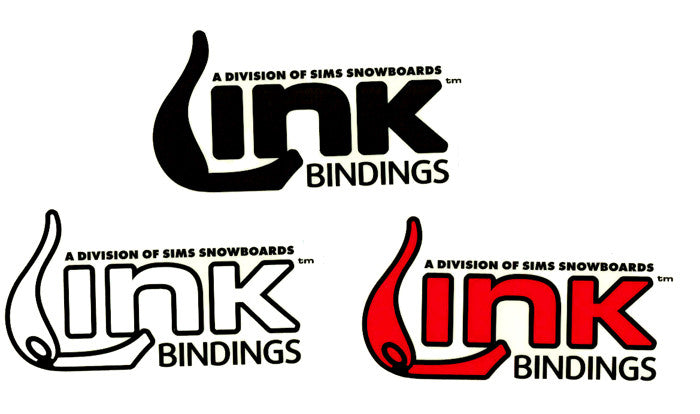 Sims Link Bindings Snowboard Sticker Large 5 1/2""