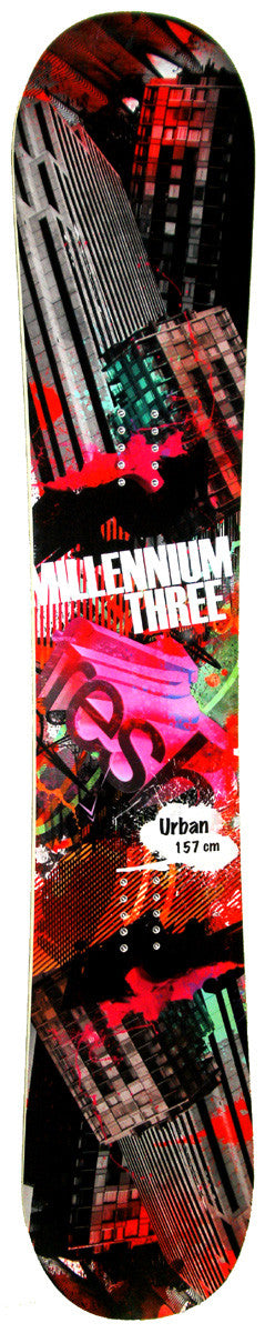 157cm  M3 Millennium Three Urban Rocker Snowboard