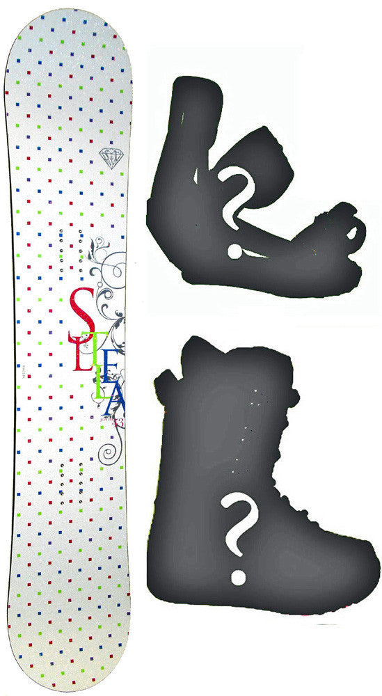 143cm Stella Jupiter  Womens Snowboard Package with Boots and Bindings