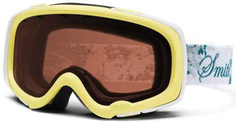 Smith Gambler Pro Snowboard Ski Goggles Yellow Leaves