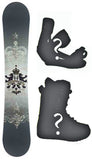 163cm Avalanche Crest Snowboard Package with Boots and Bindings