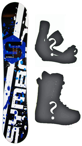Symbolic Chopper Rocker Boys-Girls-Kids Board or Build a Snowboard Package with Boots and Bindings