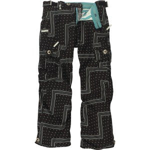 686 Smarty Original Cargo Womens Pants Zig Zag Black Large
