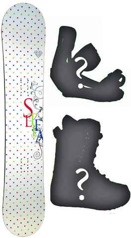 143cm Stella Jupiter White Board or Build a Snowboard Package with Boots and Bindings