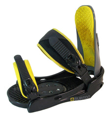 Burton Progression Black Yellow Used Snowboard Bindings M/L