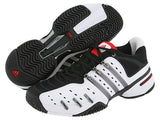 Adidas Barricade v xtd  Youth jr kids Tennis shoes White Black Red 1.5