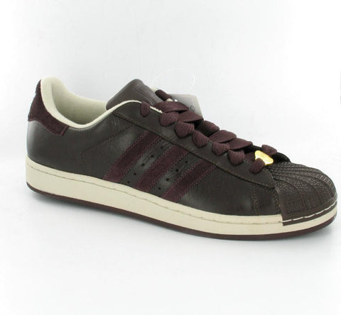 Adidas Superstar Retro Basketball Tennis Shoes Lux Brown 17