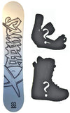 138-140cm X-Games Chopper Kids Snowboard Package With Boots And Bindings