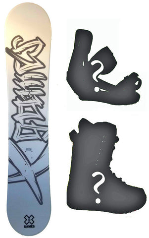 135cm, 138cm, 140cm X-Games Chopper Board or Build a Snowboard Package With Boots And Bindings