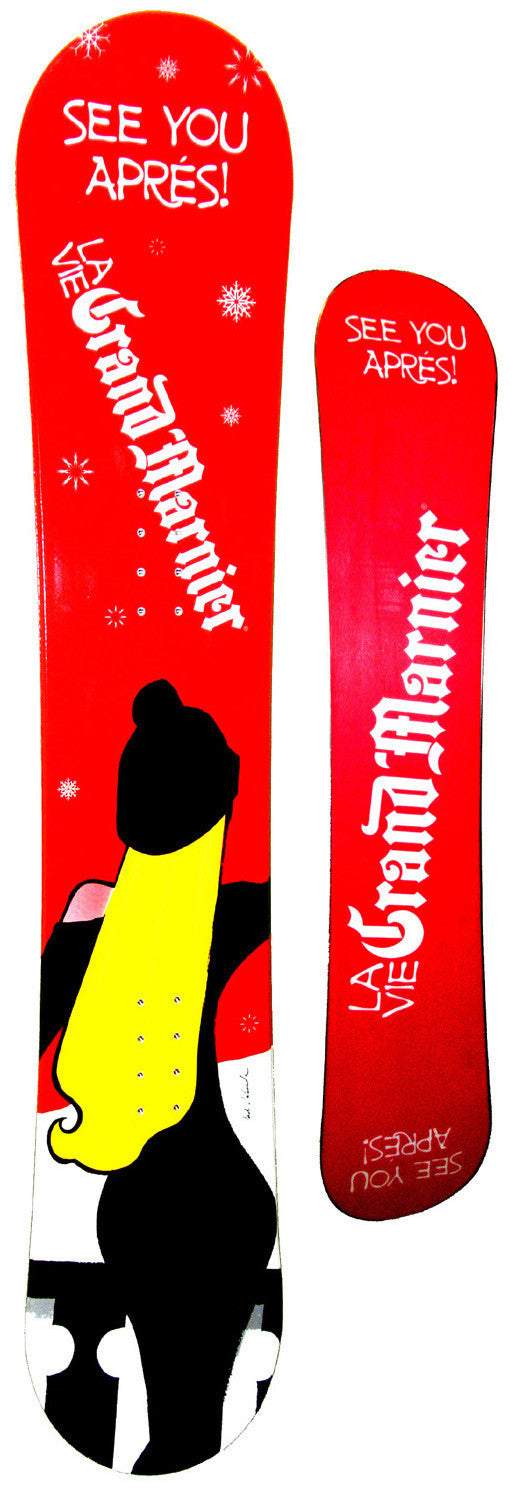 154cm Grand Marnier Quot See You Apres Quot Camber Snowboard