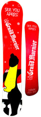 "154cm  Grand Marnier ""See You Apres"" Camber Snowboard"