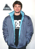 "Alphanumeric ""Puffy"" Reversable Snowboard Pro Jacket Grey/Blue Large"
