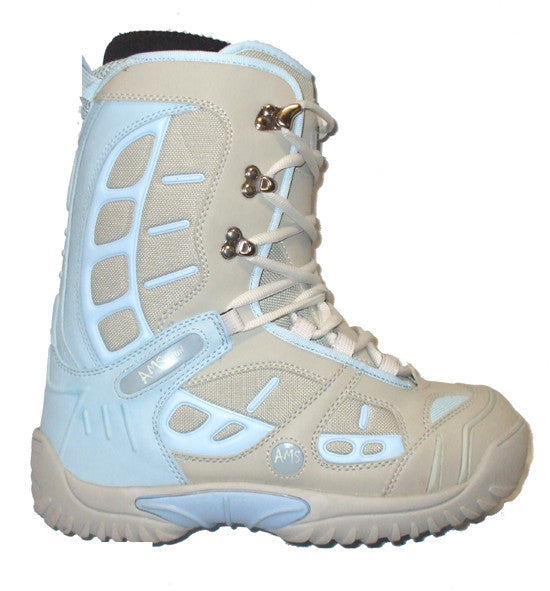 Ams Team Womens Snowboard Boots Grey Blue Size 7