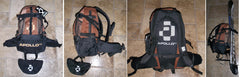 Apollo Polaris Snowboard Skateboard Bag Carry Backpack Music Brown