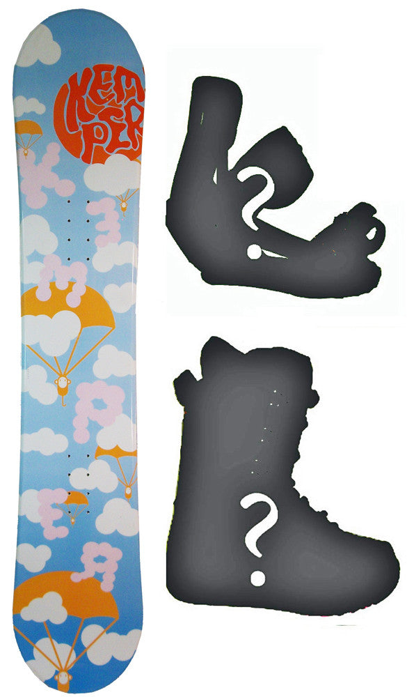 145cm Kemper Parachute Snowboard Package with Boots and Bindings